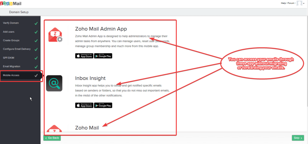 Zoho Mail Mobile Apps