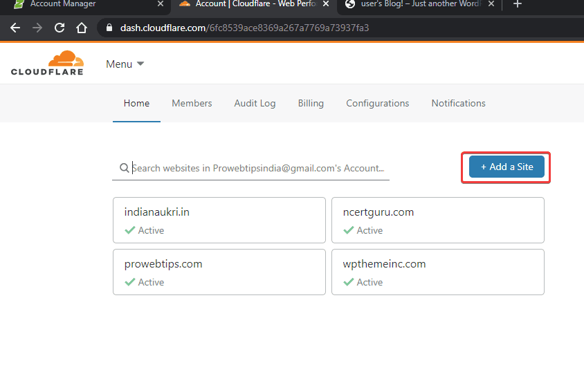 add new button cloudflare