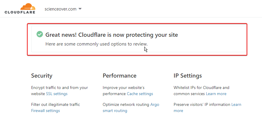 congratulation from cloudflare