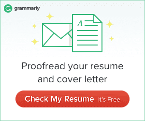 Check Free Resume on Grammarly