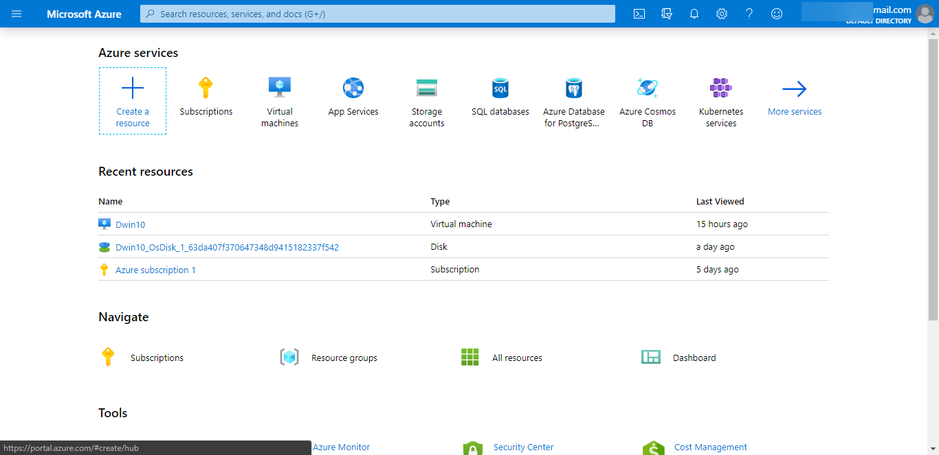 Microsoft Azure Cloud Free for 1 Year