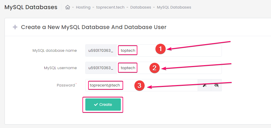 Creating a new MySQL Database on Hostinger cPanel by simple steps