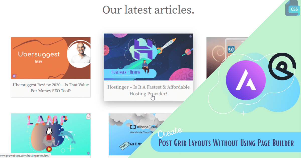 Post Grid Layouts Without Using Page Builder