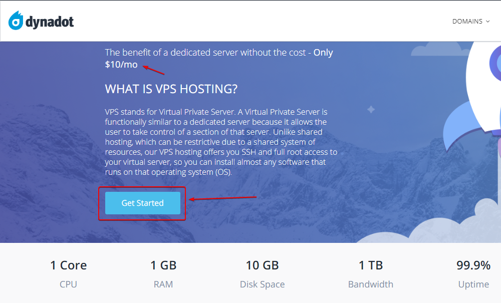 Get Started with VPS hosting