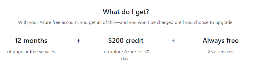Azure free resources -