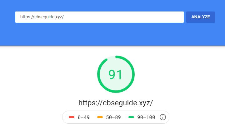 pagespeed test result after 30 day